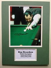 "SNOOKER RAY REARDON SIGNED 16""X12"" DOUBLE MOUNTED PICTURE DISPLAY"