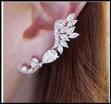Rock Girls PUNK EARRING CRYSTAL Wing Full EAR CUFF WARP CLIP STUD Party Earring