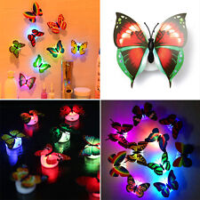 LED Night Light Colorful Changing Butterfly Lamp Home Room Party Desk Wall Decor