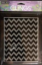 Hero Arts Clings Edgy Background (Zig Zag) Repositionable Rubber Stamp