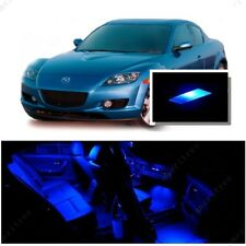 For Mazda RX8 2004-2014 Blue LED Interior Kit + Blue License Light LED