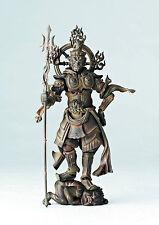 "Revoltech Takeya Kaiyodo 5"" Buddhist Statue Collection Wooden Jikokuten"
