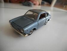 Politoys Fiat 850 Coupe in Blue/Grey on 1:43