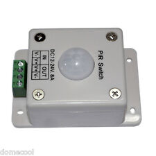 8A DC12-24 VOLT Infrared PIR ON/OFF LED Lighting Motion Sensor Switch For Strip