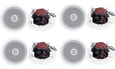 "8) Pyle PDIC60 6.5"" 250W 2 Way Round In Wall/Ceiling Home Speakers System Audio"