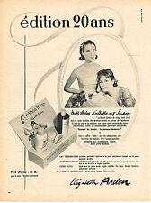 """PUBLICITE ADVERTISING  1960   ELISABETH ARDEN cosmétiques  """"édition 20 ans"""""""