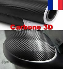 Film Vinyle 3D Carbone Thermoformable Sticker Adhesif Autocollant 50X152 CM Noir