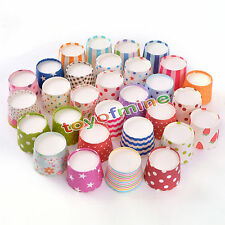 50pcs/lot Mix color Cute Wedding Birthday Baby shower Party Cup Cake Decorating