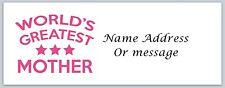 30 Personalized Return Address Labels Mom Mother Buy 3 get 1 free (a22)