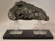 Double Pedestal BLACK Clear MAGNETIC METEORITE / SPECIMEN Display Stand