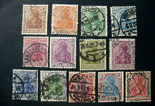 """GERMANY,GERMANIA D.REICH 1920 """" figure Allegoriche"""" 13 V. cpl set USED n°1"""