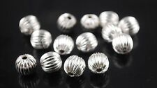 100 Silver Pumpkin 6mm Spacer Beads For Jewellery Making BUY 3 FOR 2