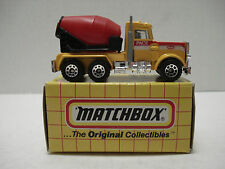MATCHBOX PETERBILT CEMENT TRUCK # MB-19 WITH BOX 1993
