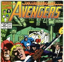 The AVENGERS #321 with Captain America & Vision from Aug 1990 in VG/F con. DM