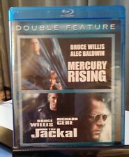 Mercury Rising/The Jackal (Blu-ray Disc, 2011,2-Disc Set) - Used Once - Free S&H