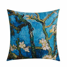 Cushion Cover Decorative Pillow Case Almond Blossom VanGogh Sofa Throw Thick