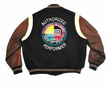 Roland 80's vtg Official Varsity Jacket XL Leather Synth Rap TR-808 909 707 303