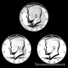 1965 1966 1967 SMS Kennedy Half Dollar 40% Silver Coins from Original SMS Sets