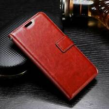 Oppo F3 Plus Flip Cover Leather Case Luxury Revel Touch Leather Cover Brown
