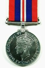 Original British WW2 1939-45 WAR Medal + Ribbon Named To Indian Army Servicemen
