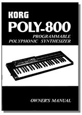 KORG POLY-800 OWNER'S MANUAL POLY800 POLY 800 - Put the Power in Your Synth!