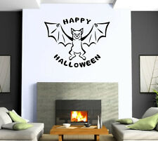 Happy Halloween Bat Night Horror Scary Mural  Wall Art Decor Vinyl Sticker z509