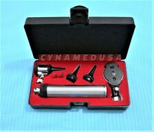 PREMIUM OPHTHALMOSCOPE OTOSCOPE ENT SET  HEAD LENS WHEEL DIAGNOSTIC + 2 BULBS