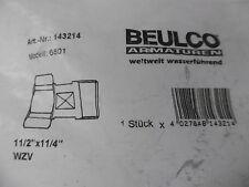 """Beulco Wasserzähler-Verschraubung Messing 1 1/2"""" 1 1/4"""" 143214 Neu OVP"""