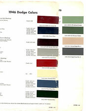 1946 1947 1948 DODGE WAYFARER CORONET 46 47 48 PAINT CHIPS 46 DUPONT 2 12PC
