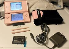 NINTENDO DS LITE USG-001 NOBLE PINK Console; TESTED; EXTRA BATTERY + BAG