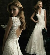 2015 hot Lace Wedding Dresses Bridal Gown White/Ivory Custom Size 4 6 8 10 12 14