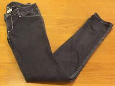 LUX!!! WOMENS/JR GIRLS CHARCOAL BLACK JEANS- SIZE 27 (4 WOMEN) - LOW RISE - EUC