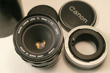 Canon Macro FL  50mm f3.5 M/F  lens with Life Size Adapter FL Super Clean