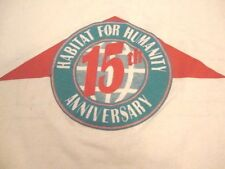 Vintage Habitat For Humanity Anniversary 90s Service Help Paper Thin T Shirt M