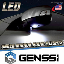 Bright White LED Canbus Error Free Car Under Mirror Puddle Lights Replace 4 Pack