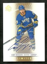 2013-14 SP Authentic CODY HODGSON Base Limited Autograph Parallel 2012-13 Update