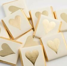 100 Gold Heart Chocolate Neapolitans - Wedding Favours - Sweetie Table.