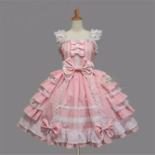 Girls Lolita Angel Love Costume Gothic Princess Maid Outfit Dress Cosplay