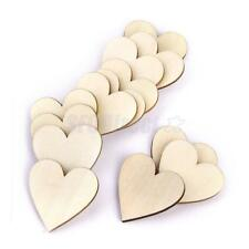 50 Plain Wooden Cutout Love Heart Shape CRAFT CARD MAKING SCRAPBOOKING 40mm