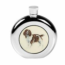 SPRINGER SPANIEL HIP FLASK STAINLESS STEEL COUNTRY SPORTS GIFT BOXED SCREW TOP