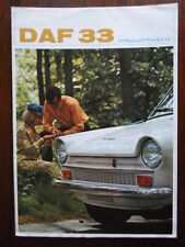 DAF 33 Variomatic orig 1968 UK Market sales brochure