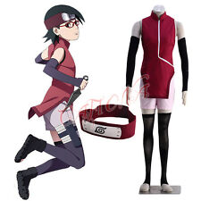 Cafiona Naruto Sarah Uchiha BORUTO Cosplay Costume Customized Cheongsam Headband