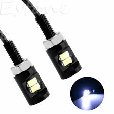 2pcs White LED SMD 5630 Motorcycle Car License Plate Stud Screw Bolt Light Lamps