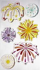 Fireworks Celebration 4th Of July Holiday Jolee's 3D Sticker