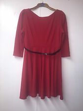 Brand New size 14 Next red dress 3/4 sleeves! stunning