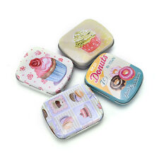 Mini Tin Sealed Jar Packing Boxes Jewelry Candy Box Small Storage Coin Box Top