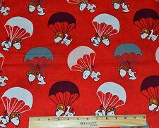 SNOOPY FABRIC! BY THE HALF YARD! PEANUTS! RED BARON! CHARLES SCHULTZ~DOG~BEAGLE
