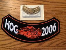 2006 HARLEY-DAVIDSON HOG OWNERS GROUP EMBROIDERED ROCKER PATCH & MATCHING PIN