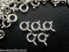 5 x Solid Sterling Silver Bolt Ring Clasps - Open 6mm