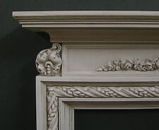 """FIREPLACE ~for  BARBIE FASHION DOLL ~ 1:6 scale ~ 11"""" - 13"""" Dolls ~Antique White"""